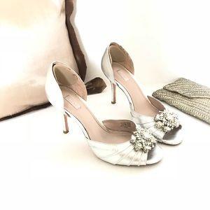 GLINT Open Toe Heels Jeweled Rhinestones